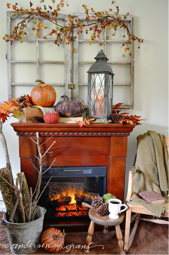 Decorating My Living Room Curtains Ideas Sheer For Fall Anderson Grant I Wanted Something Laid Back And Cozy Yet Still Have All The Elements Of You Can T Go Wrong With Some Leaves Pumpkins Pine Cones