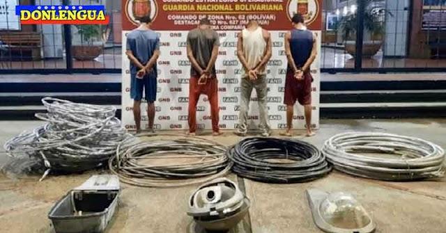 5 Recogelatas detenidos por robarse cables de una estación eléctrica abandonada