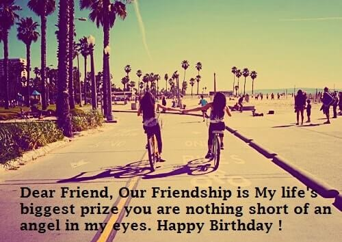 Happy Birthday Friend poem image friendship natural