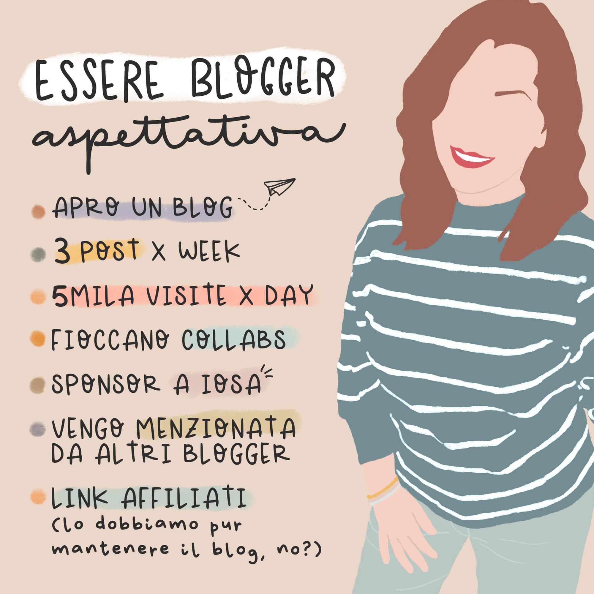 aspettative di una blogger agli inizi