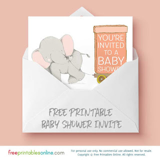 free printable baby shower invite