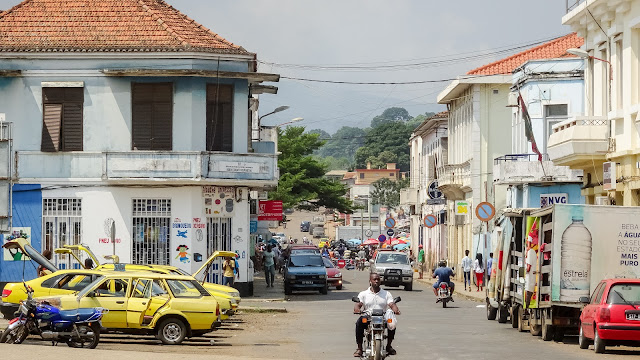 Rue de Mocambique in Sao Tome capital