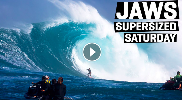 Jaws XXL Supersized Saturday Swell In The Boat With Nathan Florence and Eli Olson WSL Big Wave