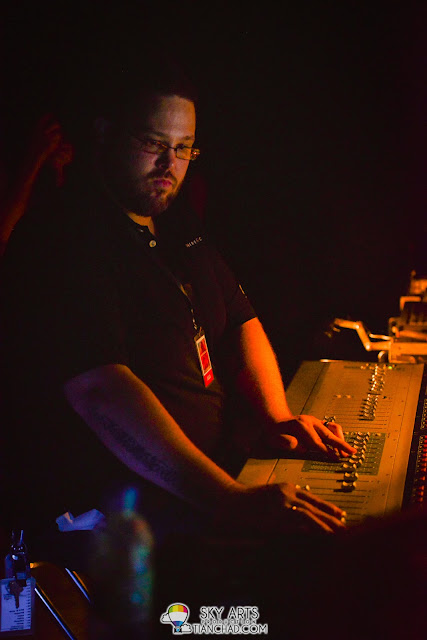 The audio/lighting control technician that make sure everything is good to go OneRepublic Native Live in Malaysia 2013