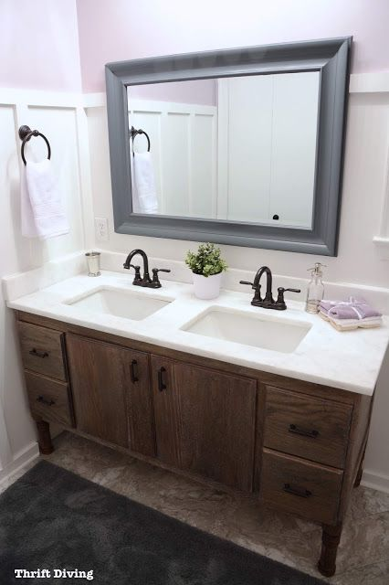 How to build bathroom vanity bathroom makeover