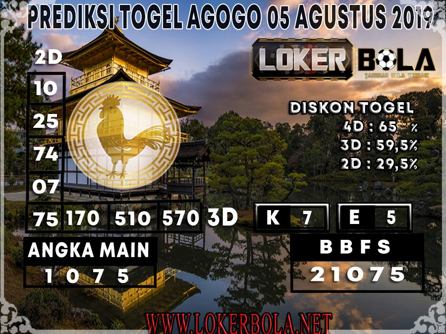 PREDIKSI JITU AGOGO LOKERBOLA 05 AGUSTUS 2019
