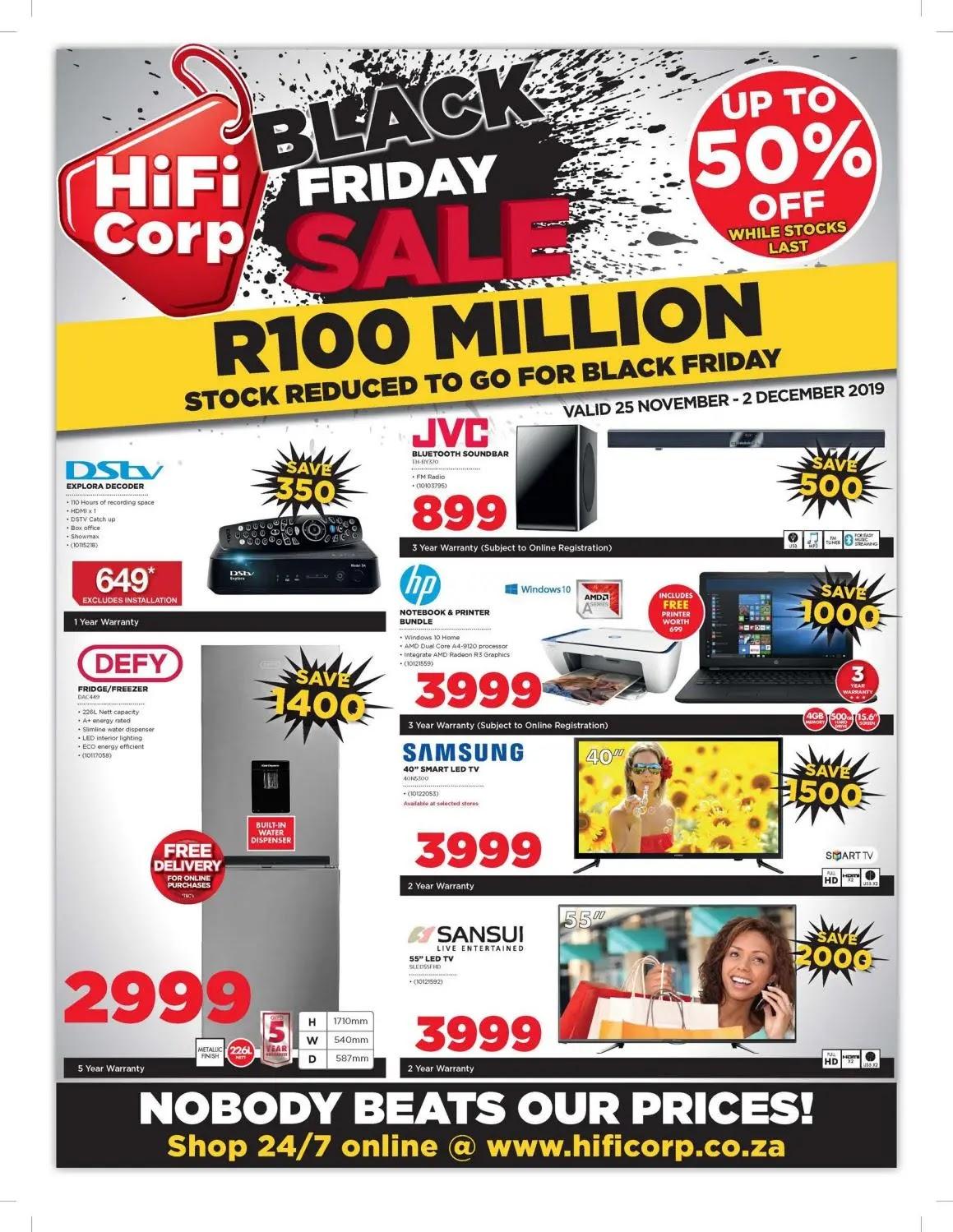 HiFi Corporation Black Friday Deals  Page 1