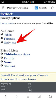Facebook friend list hide kese kare 4