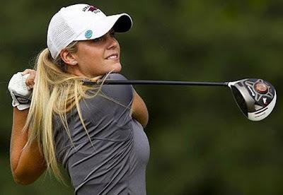 Emma Lavy Bradford playing golf