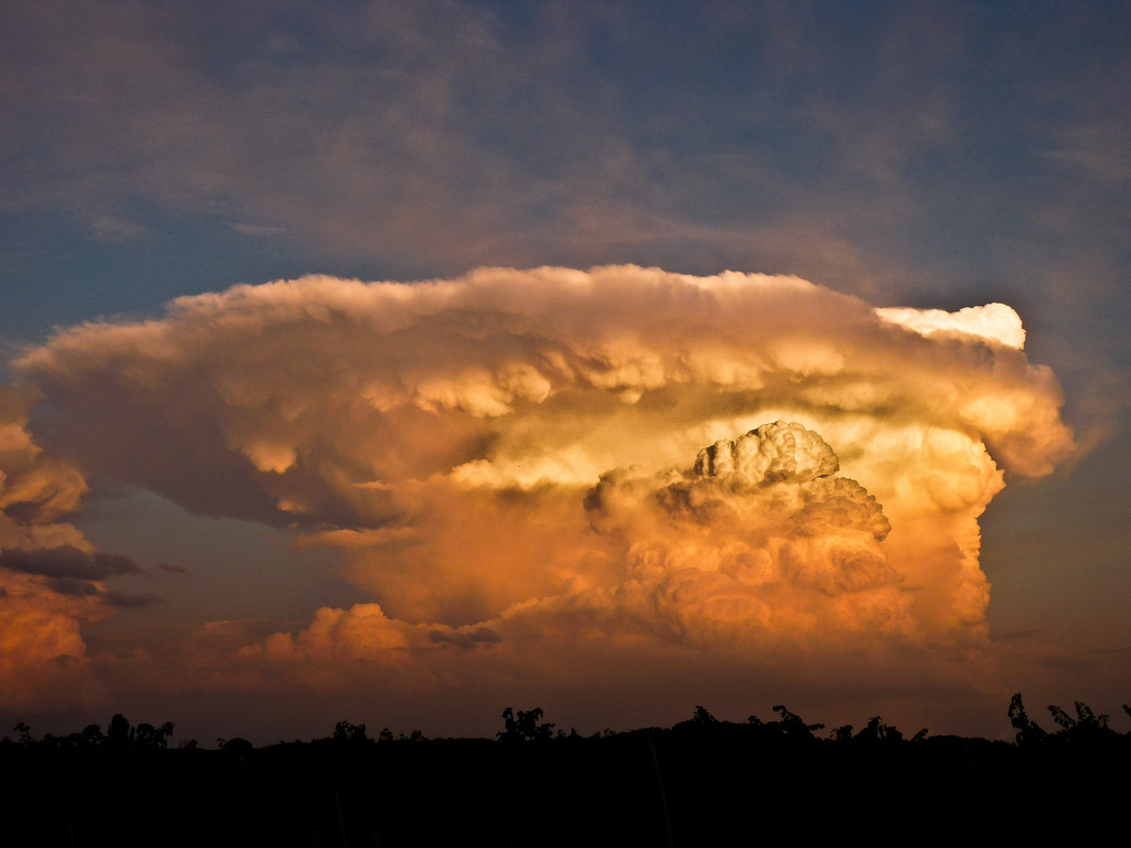 Massive convection, Cumulonimbus, France, Thunderstorm