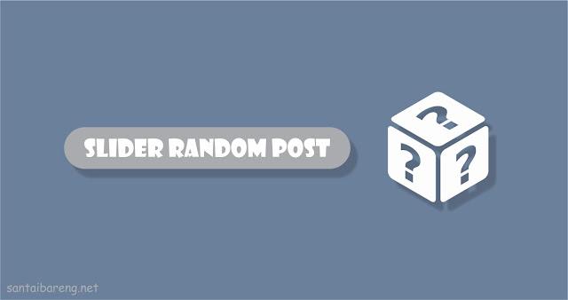 Slider Random Post Otomatis Responsive