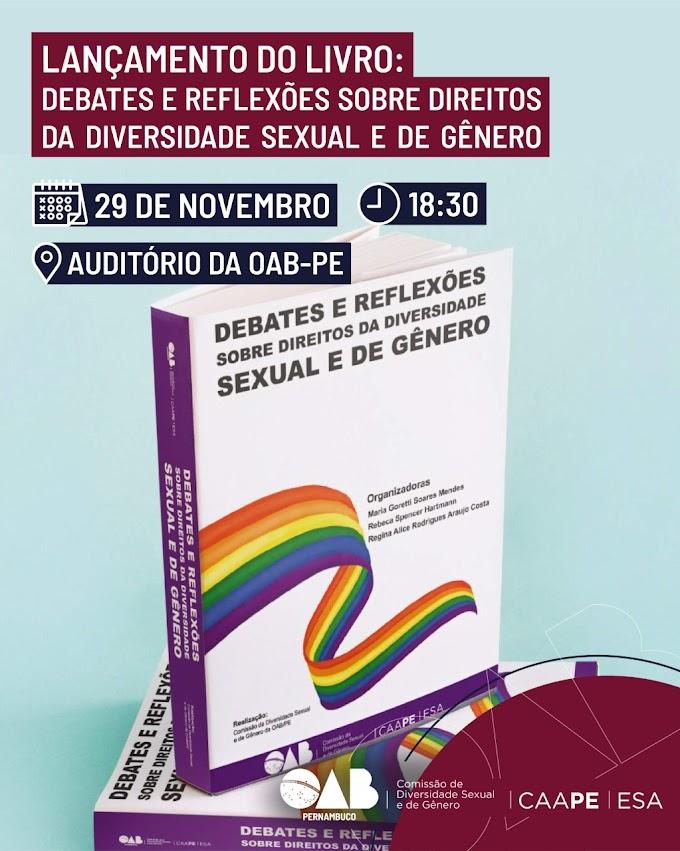 Comissão de Diversidade Sexual e de Gênero da OAB-PE lança livro com coletânea de artigos nesta sexta-feira (29)