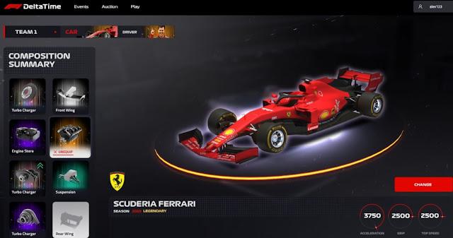 Game NFT F1 Delta Time