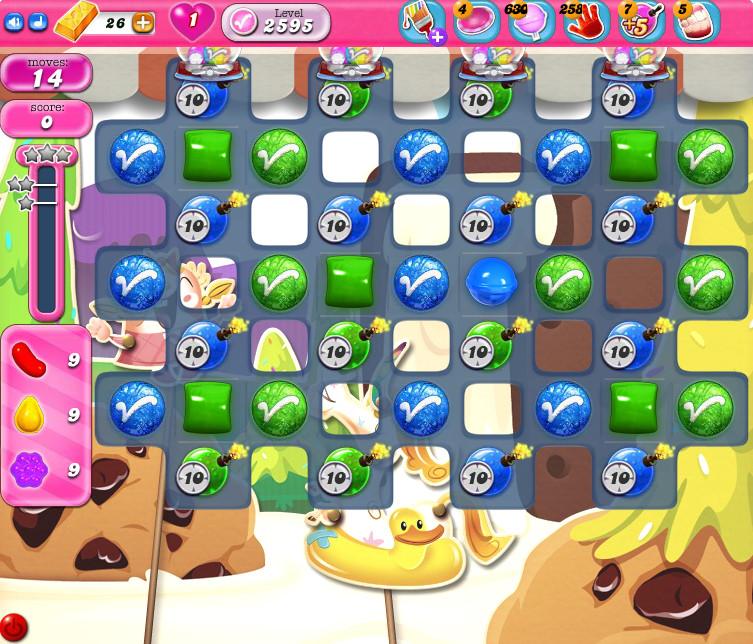 Candy Crush Saga level 2595