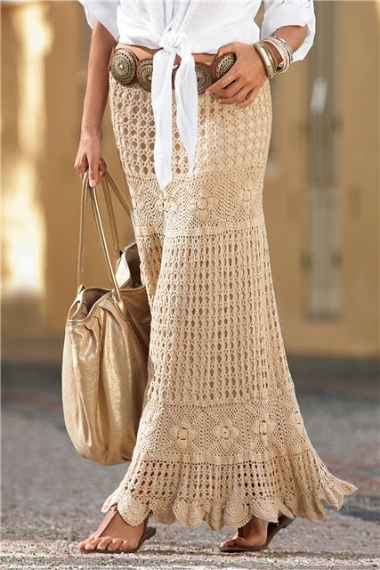 Long crochet skirt for this season - Crochet Works