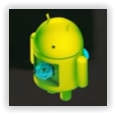 animated green android logo