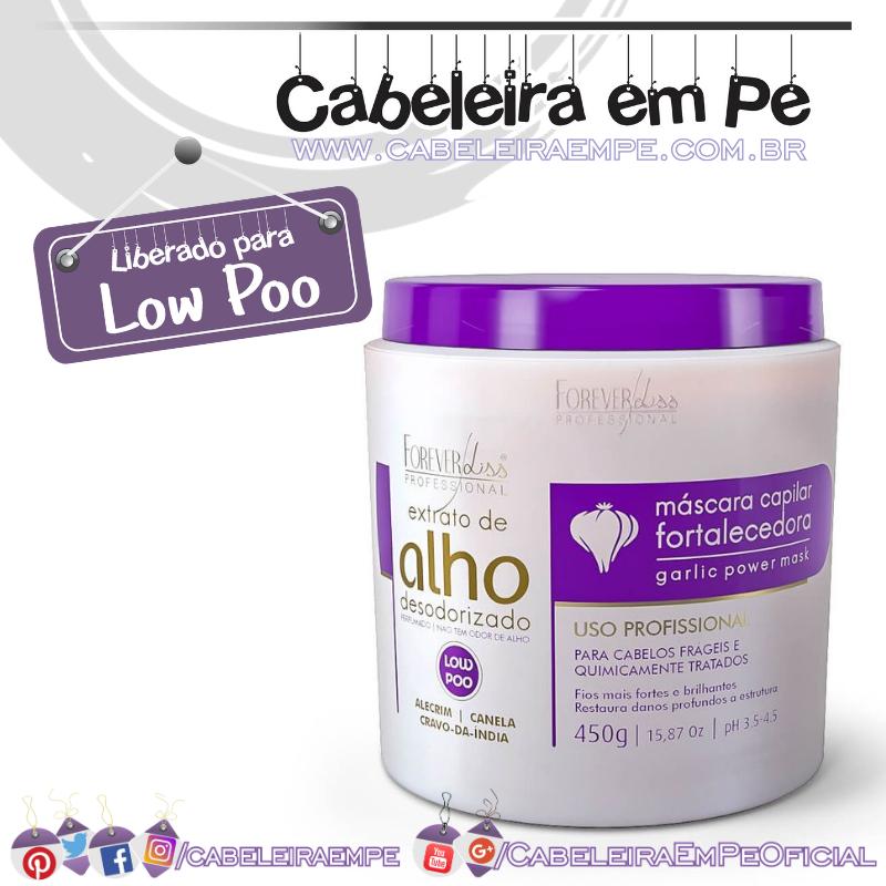 Máscara Capilar de Alho Fortalecedora - Forever Liss (Low Poo)