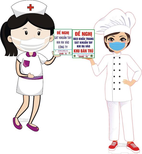vector nữ y tá bện viện phòng chống Coronavirus file Corel