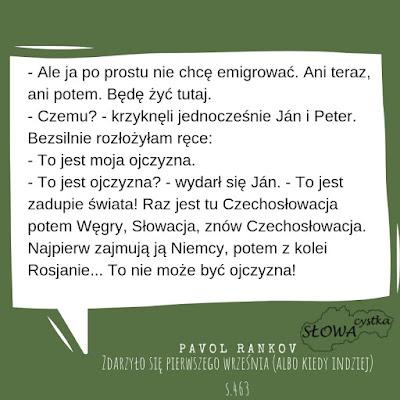 Pavol Rankov Zdarzylo sie pierwszego wrzesnia albo kiedy indziej cytat