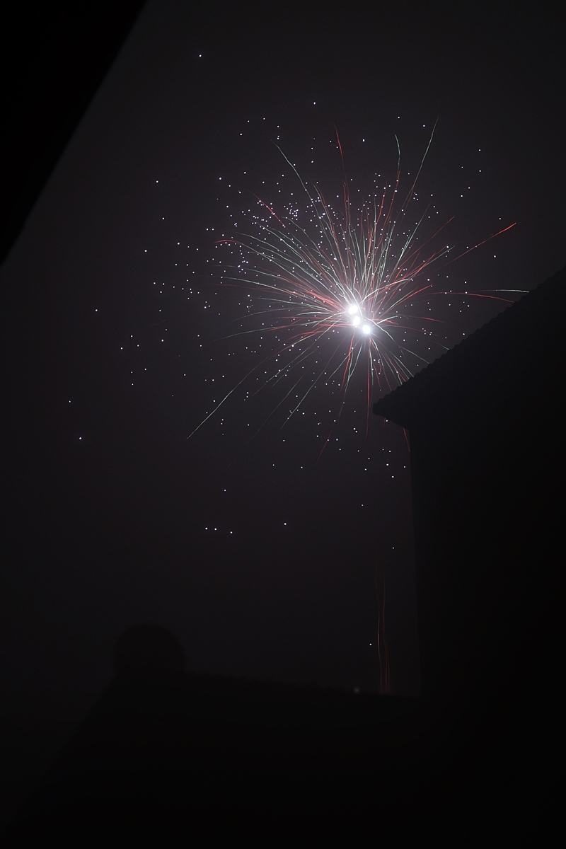 Firework on New Year`s Eve   In heaven