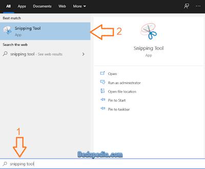 cara screenshot di pc laptop menggunakan snipping tool