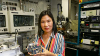 UNSW lead researcher Xiaojing Hao has developed new solar cells using non-toxic, relatively abundant materials, which may open up new fields for the industry. (Photo Credit: Dallas Kilponen) Click to Enlarge.