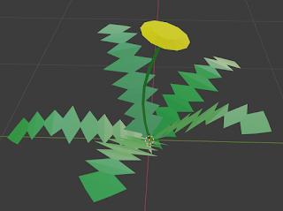 A 3D model of a dandelion.