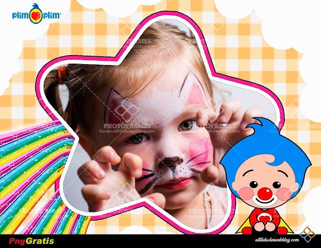 Hermoso marco infantil en forma de estrella inspirado en el payasito Plim Plim