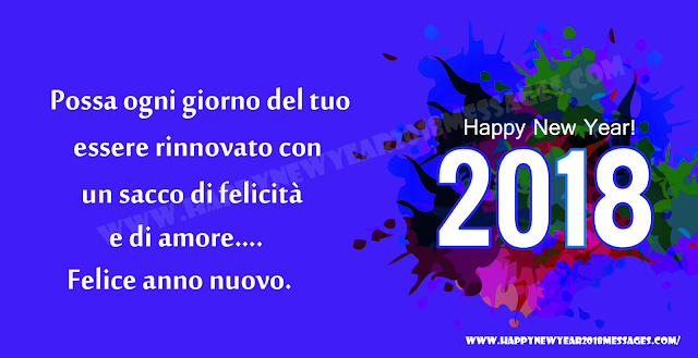 happy new year 2018 italian Status