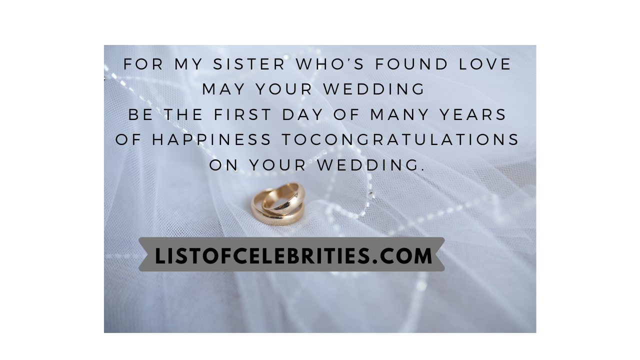 wedding wishes for cousin sister in english