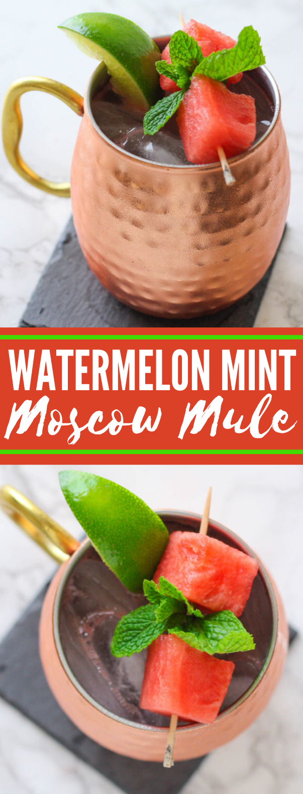 WATERMELON MINT MOSCOW MULE #drinks #cocktails
