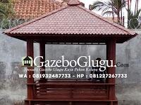 Gazebo Kayu Kelapa Glugu Desain Minimalis yang Simpel