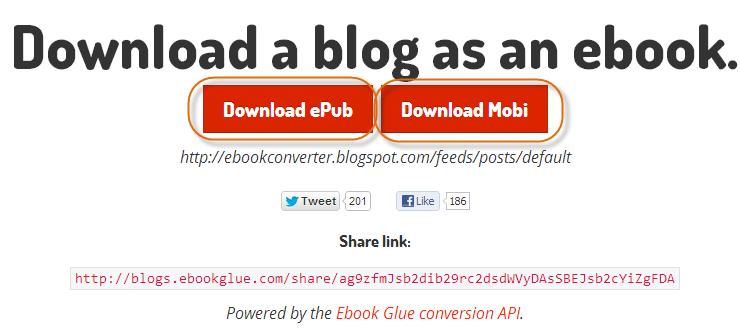 2 ways to convert a blog to EPUB and MOBI books | eBook