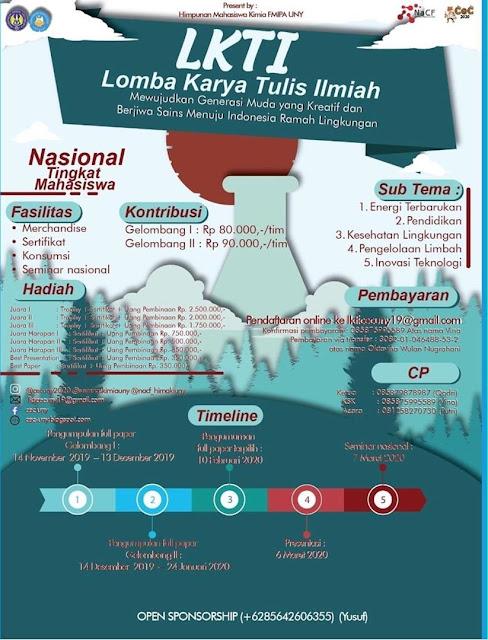 Lomba Karya Tulis Ilmiah Kimia by Hima Kimia UNY