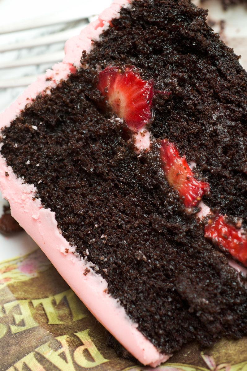 Dark Chocolate Cake With Cream Cheese Icing