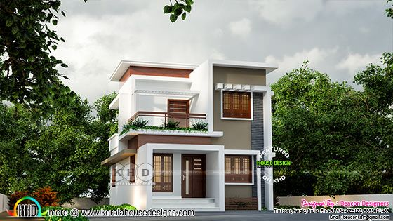 3 bedroom flat roof house architecture