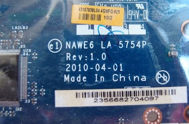 LA-5754P Rev1.0 NAWE6 IBM lenovo g565 Bios