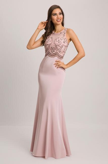 vestido longo rose justinho