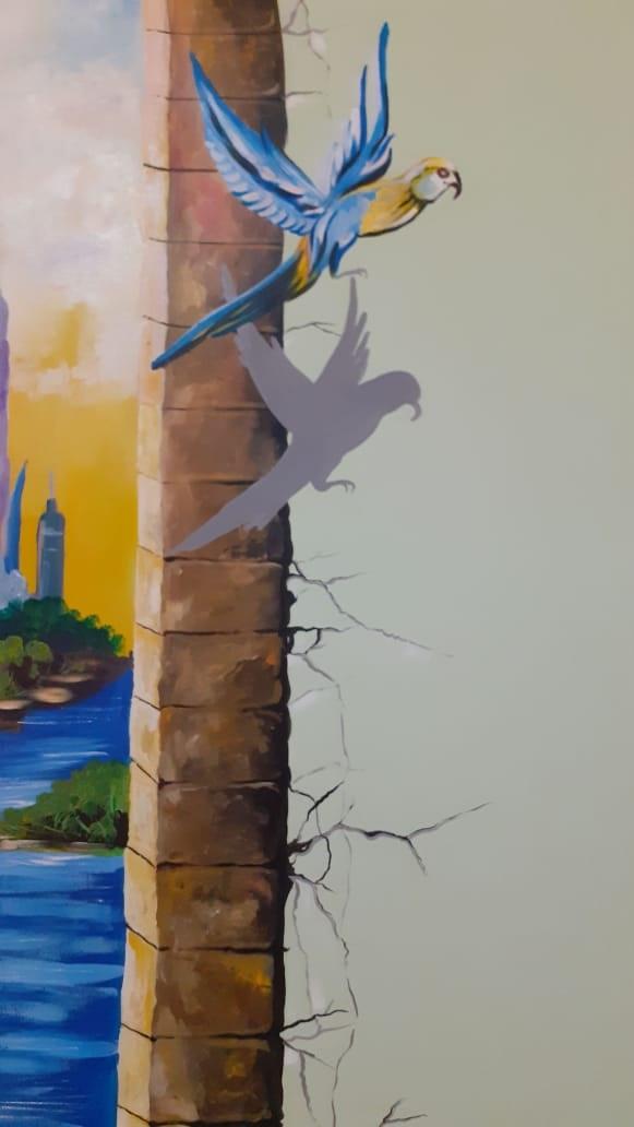 Karya Lukisan Mural Burung Terbaik