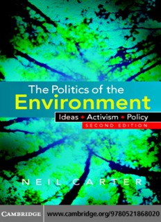 The Politics of the Environment By Neil Carter Book PDF