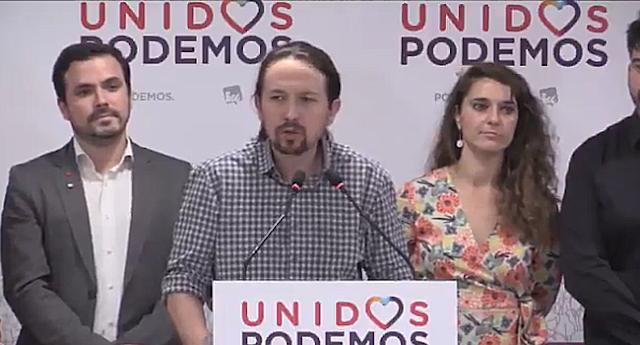 """Pablo Iglesias apela a la """"responsabilidad"""" frente al fascismo para proteger la democracia"""