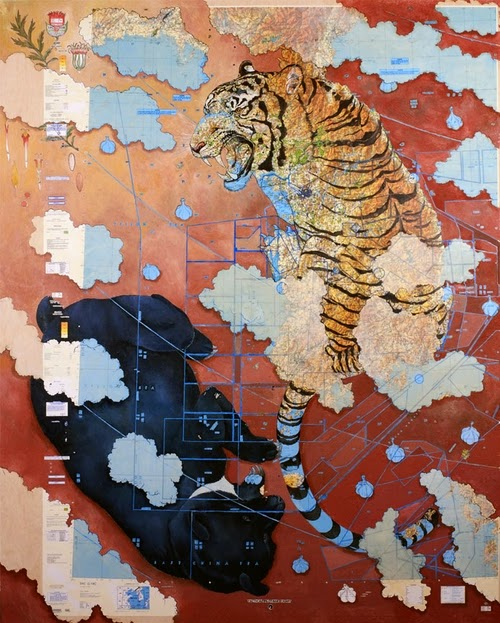 14-Tan-Gun-Artist-Paul-Morstad-Cartographic-Maps-Vancouver-Canada-Collage-Water-Colour-Gouache-Oil-Paints-www-designstack-co