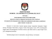 Pengumuman Penetapan PPS se Kabupaten Sragen Pilgub 2018