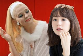 """Советская (слева) и японская (справа) жёны [фотоколлаж с использованием кадра из фильма """"Бриллиантовая рука"""" (кана ダイアモンド・アーム)]"""
