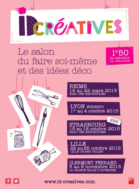 affiche, ID créatives, Lille, Clermont-Ferrand, loisirs créatifs, la perle des loisirs
