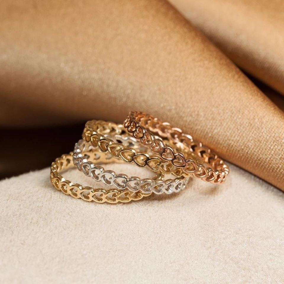 #auratenyc infinity heart gold rings #ad