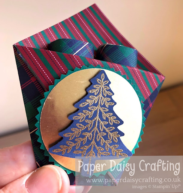 Perfectly Plaid Pine Tree Punch Stampin' Up!