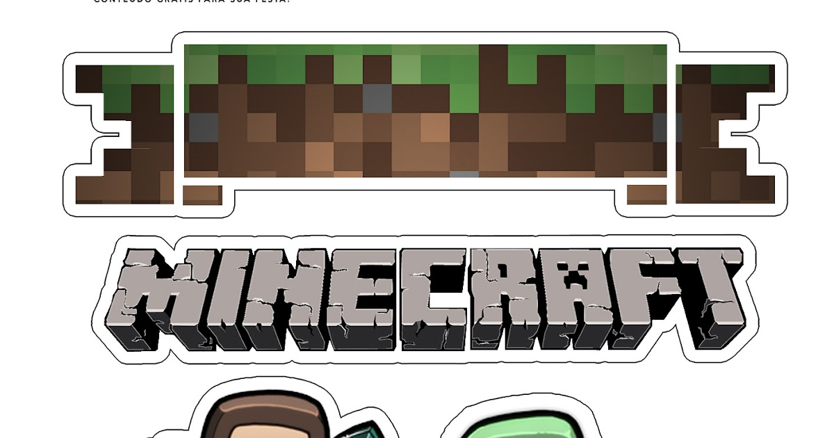 Minecraft: Free Printable Cake Toppers. - Oh My Fiesta ...