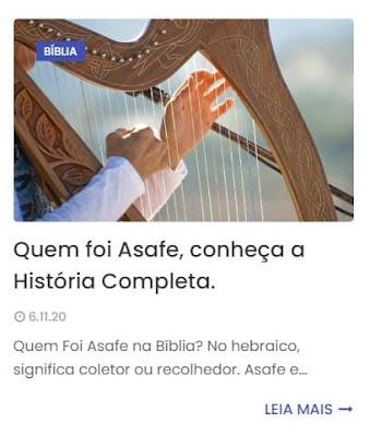 Conheça História Completa de Asafe.