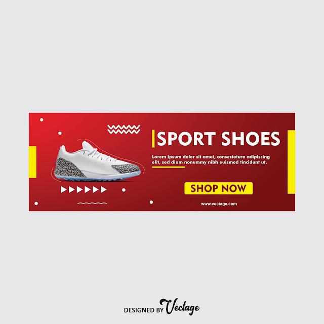 shoe banner design free download,